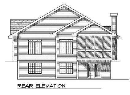 Traditional House Plan 73332 Rear Elevation