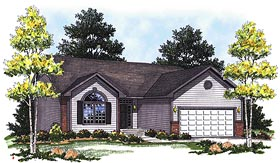 Ranch House Plan 73334 with 2 Beds, 2 Baths Elevation
