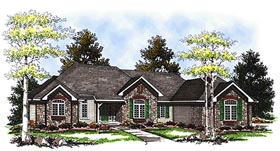 Traditional House Plan 73336 with 2 Beds, 2 Baths, 3 Car Garage Elevation