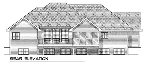 Traditional House Plan 73337 Rear Elevation