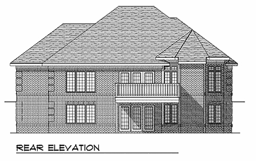 Traditional House Plan 73338 Rear Elevation