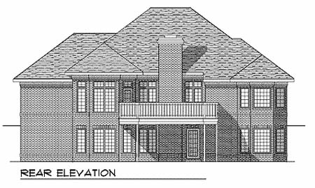Traditional House Plan 73339 Rear Elevation