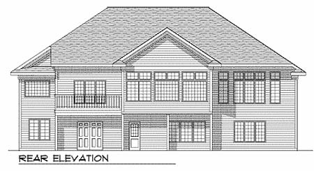 Traditional House Plan 73340 Rear Elevation