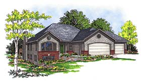 House Plan 73341 | Traditional Style Plan with 2263 Sq Ft, 3 Bedrooms, 2 Bathrooms, 3 Car Garage Elevation