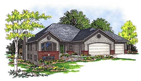 One-Story , Traditional , Elevation of Plan 73341