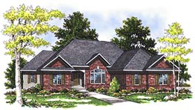 European Ranch House Plan 73342 Elevation