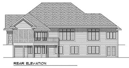 European Ranch House Plan 73342 Rear Elevation