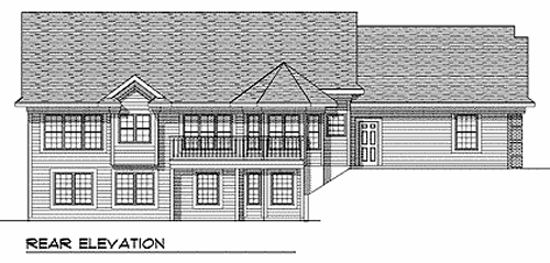 Ranch Traditional House Plan 73343 Rear Elevation
