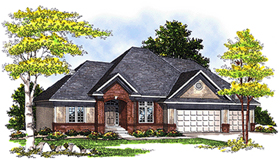 European House Plan 73345 Elevation
