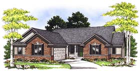 House Plan 73349 | Traditional Style Plan with 1930 Sq Ft, 2 Bedrooms, 2 Bathrooms, 2 Car Garage Elevation