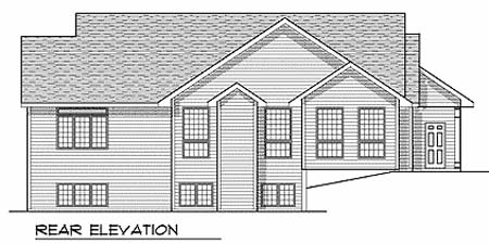 Traditional House Plan 73349 Rear Elevation