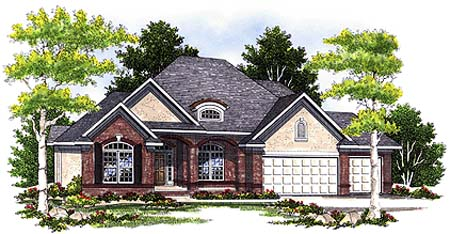 European House Plan 73350 Elevation