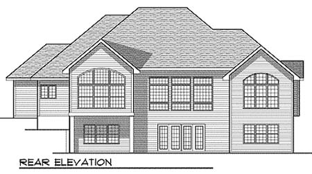 European House Plan 73350 Rear Elevation