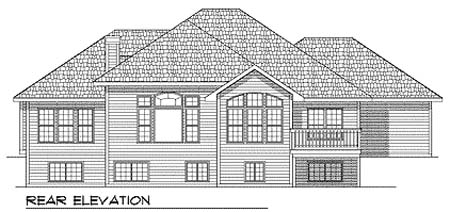 European Traditional House Plan 73351 Rear Elevation