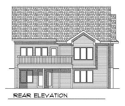 Traditional House Plan 73352 Rear Elevation