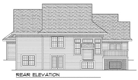Traditional House Plan 73353 Rear Elevation