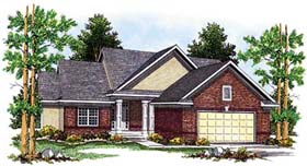 Traditional House Plan 73354 with 3 Beds, 3 Baths, 2 Car Garage Elevation