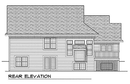 Traditional House Plan 73354 Rear Elevation