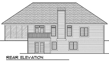 Traditional House Plan 73356 Rear Elevation