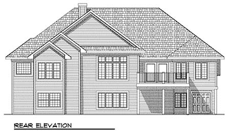 Traditional House Plan 73357 Rear Elevation