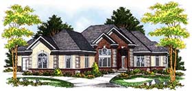 European , Traditional House Plan 73358 with 2 Beds, 2 Baths, 4 Car Garage Elevation