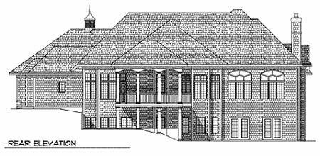 European House Plan 73359 Rear Elevation