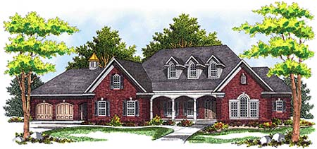 Country European House Plan 73360 Elevation