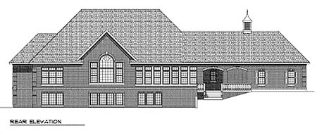 Country European House Plan 73360 Rear Elevation