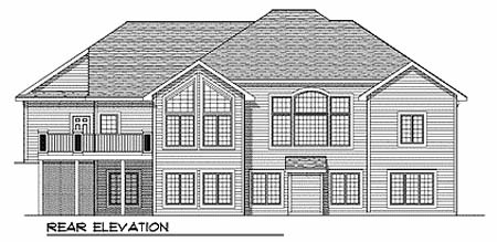 Traditional House Plan 73361 Rear Elevation