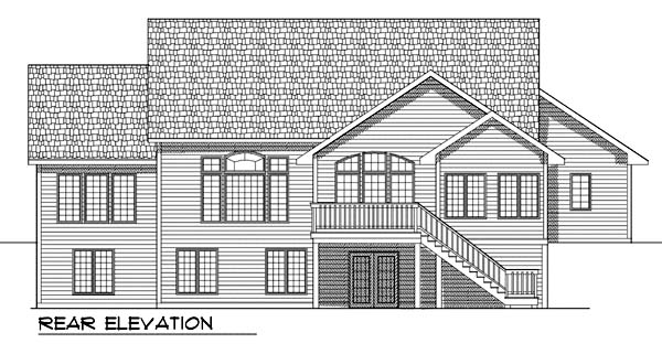 House Plan 73362 | Traditional Style Plan with 2120 Sq Ft, 2 Bedrooms, 2 Bathrooms, 3 Car Garage Rear Elevation