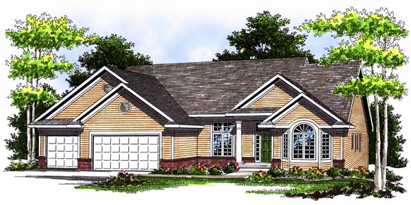 Traditional House Plan 73363 Elevation