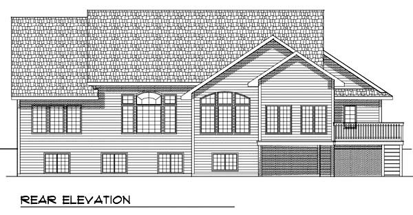 Traditional House Plan 73363 Rear Elevation