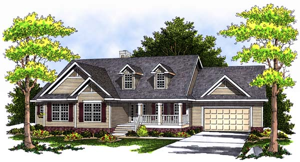 Country Traditional House Plan 73364 Elevation