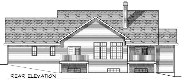 Country Traditional House Plan 73364 Rear Elevation