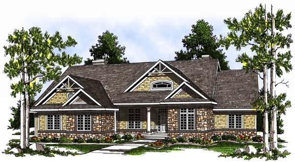 Craftsman Ranch House Plan 73365 Elevation
