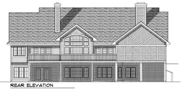 Craftsman Ranch House Plan 73365 Rear Elevation
