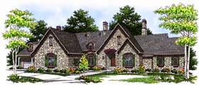 Tudor , European House Plan 73370 with 3 Beds, 3 Baths, 4 Car Garage Elevation
