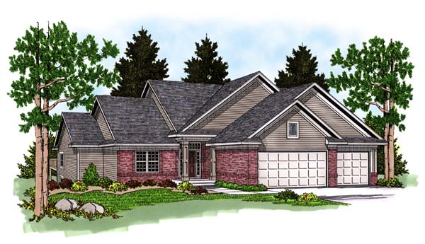 Traditional House Plan 73371 Elevation