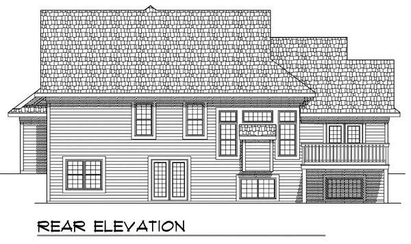 Traditional House Plan 73371 Rear Elevation