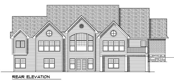 House Plan 73372 | Traditional Style Plan with 2269 Sq Ft, 2 Bedrooms, 2 Bathrooms, 3 Car Garage Rear Elevation
