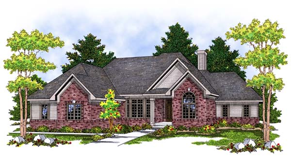 Traditional House Plan 73373 Elevation