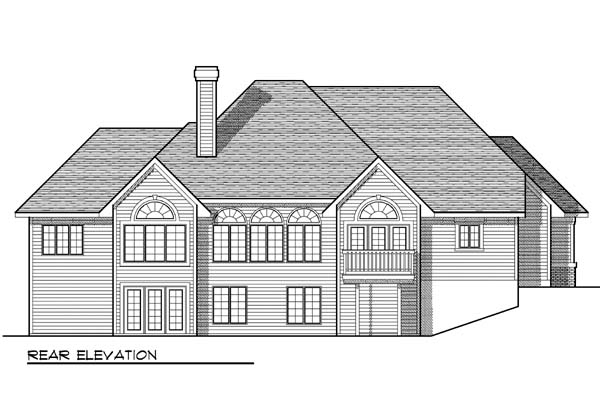 Traditional House Plan 73373 Rear Elevation