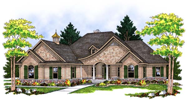 European Ranch House Plan 73374 Elevation