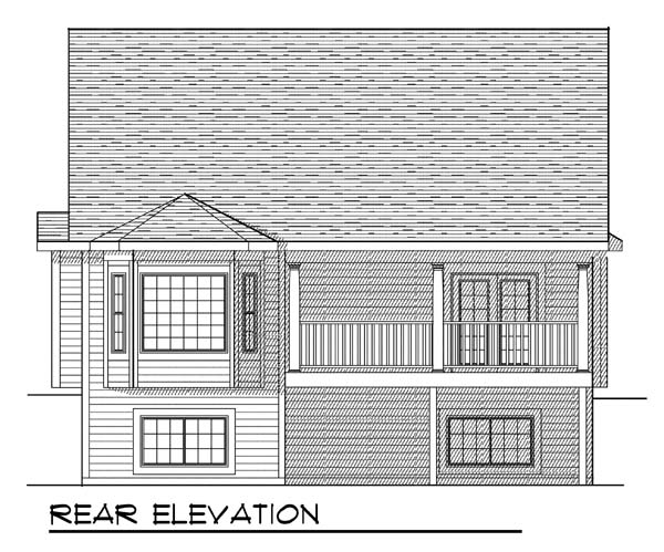 Traditional House Plan 73375 Rear Elevation