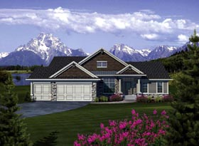 Ranch House Plan 73376 Elevation