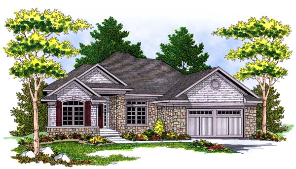 Traditional House Plan 73377 Elevation