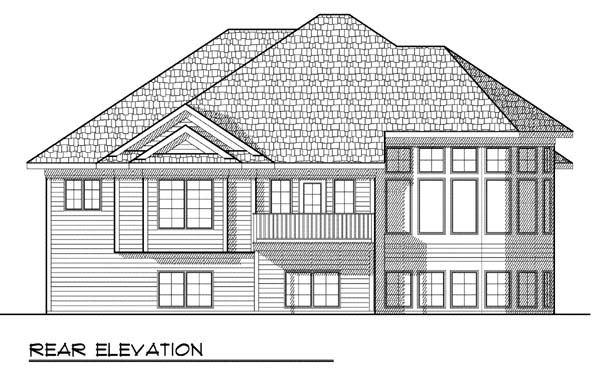 Traditional House Plan 73377 Rear Elevation