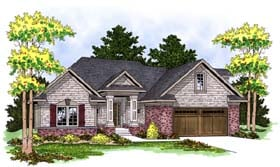 House Plan 73378 | Traditional Style Plan with 1878 Sq Ft, 2 Bedrooms, 2 Bathrooms, 2 Car Garage Elevation