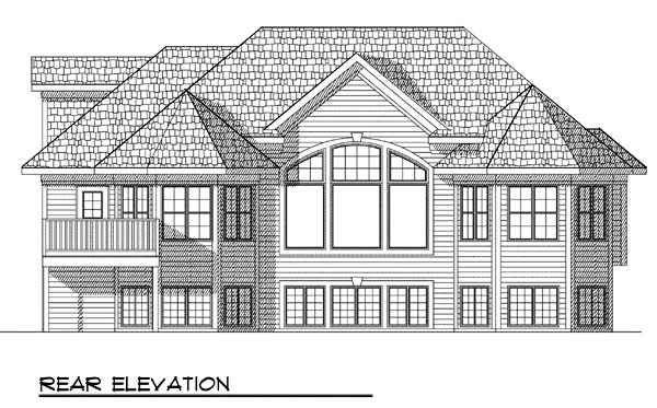 House Plan 73378 | Traditional Style Plan with 1878 Sq Ft, 2 Bedrooms, 2 Bathrooms, 2 Car Garage Rear Elevation