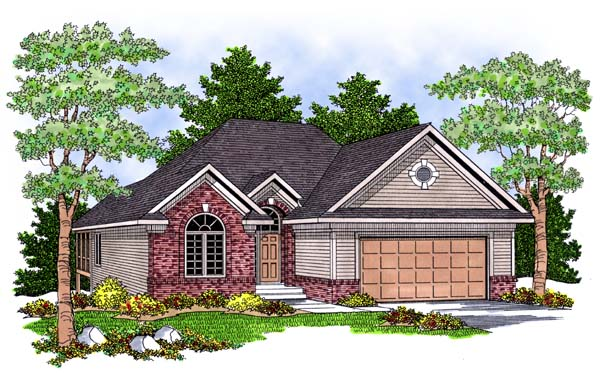 Traditional House Plan 73379 with 2 Beds , 2 Baths , 2 Car Garage Elevation